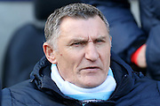Coventry City Manager Tony Mowbray during the Sky Bet League 1 match between Coventry City and Rochdale at the Ricoh Arena, Coventry, England on 5 March 2016. Photo by Chris Wynne.