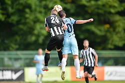 Toth Kevin of ND Mura vs. Burgic Miran of ND Gorica during the football match between ND Mura and ND Gorica in 1st Round of Pokal Slovenije 2015/16, at Fazanerija on August 19, 2015 in Murska Sobota, Slovenia. Photo by Mario Horvat / Sportida