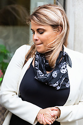 Nadia Essex outside her employment tribunal in London where she is suing  former Celebs Go Dating co-host Eden Blackman for unfair dismissal. London, April 24 2019.