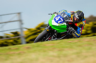Zylas Bunting in Race 1, YMI Supersport 300 during round 6 of the Australian Superbike Championship on October 05, 2019 at Phillip Island Circuit, Victoria. (Image Dave Hewison/ Speed Media)