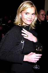 MISS CHRISTINA KNOVSEN daughter of Christina Tholstrup close friend of actor Roger Moore, at a party in London on 7th November 2000.OIT 5