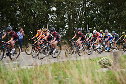 Rotem Gafinovitz (ISR) and Kasia Niewiadoma (POL) well positioned at Boels Ladies Tour 2019 - Stage 1, a 123 km road race from Stramproy to Weert, Netherlands on September 4, 2019. Photo by Sean Robinson/velofocus.com