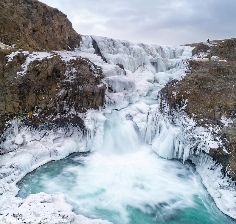 Kolugljufur canion is in Northwest Iceland.