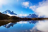 Mountain impression Lacs des Cheserys with Aiguille Vert, Aiguilles de Chamonix - Europe, France, Haute Savoie, Aiguilles Rouges, Lacs des Chesery - Forenoon - September 2008