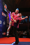 Daryl Gurney during the last 8 of the World Matchplay Darts 2019 at Winter Gardens, Blackpool, United Kingdom on 26 July 2019.