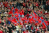 Fotball, 9. september 2004, VM kvalifisering, Glasgow, Skottland -Norge 0-1, illustrasjon, fan, fans, supporter, supportere, 6000 norske tilskuere tok turen til Skottland