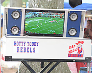 A television in the Grove before the Ole Miss vs. Louisiana Tech in Oxford, Miss. on Saturday, November 12, 2011. ..