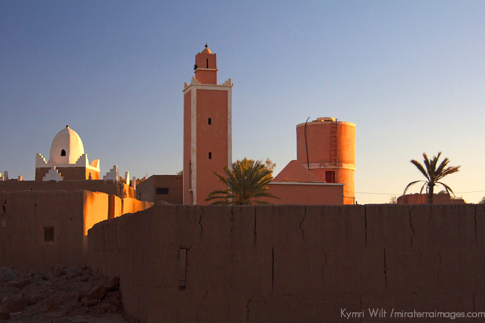Africa, Morocco, Skoura. Skoura village mosque.