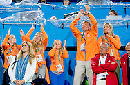 RIO DE JANEIRO - King Willem-Alexander and Queen Maxima and the princesses Amalia, Alexia and Ariane in the stands during the hockey quarterfinal against Argentina at the Olympics in Rio. King Willem-Alexander and Queen Maxima and the princesses Amalia, Alexia and Ariane in the stands during the hockey quarterfinal against Argentina at the Olympics in Rio. COPYRIGHT ANP ROBIN UTRECHT RIO DE JANEIRO - Koning Willem-Alexander en koningin Maxima en de prinsesjes Amalia, Alexia en Ariane op de tribune tijdens de kwartfinale hockey tegen Argentinie op de Olympische Spelen van RIo. Koning Willem-Alexander en koningin Maxima en de prinsesjes Amalia, Alexia en Ariane op de tribune tijdens de kwartfinale hockey tegen Argentinie op de Olympische Spelen van RIo.  ANP COPYRIGHT ROBIN UTRECHT