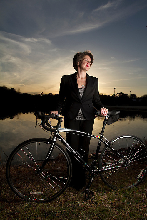 Susan Bogardus, of First American Bank & Trust in Athens, Ga. competed in her first ever triathlon in 2010.