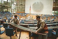 08.10.1998, Germany/Bonn:<br /> Umbauarbeiten im Plenarsaal des Deutschen Bundestages aufgrund veränderter Sitzverteilung nach den Bundestagswahl 1998, Plenarsaal, Deutscher Bundestag<br /> IMAGE: 19981008-01/01-06