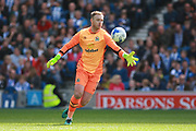 Blackburn Rovers goalkeeper Jason Steele (1) during the EFL Sky Bet Championship match between Brighton and Hove Albion and Blackburn Rovers at the American Express Community Stadium, Brighton and Hove, England on 1 April 2017. Photo by Bennett Dean.