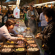 Dim Sum Steams at Zhiyou Evening Market, Kaohsiung City, Taiwan