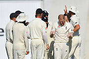 Wicket - Ben Stokes of England celebrates taking the wicket of Hardik Pandya of India during the 4th day of the 4th SpecSavers International Test Match 2018 match between England and India at the Ageas Bowl, Southampton, United Kingdom on 2 September 2018.