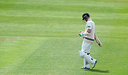 Dejection for Middlesex's Sam Robson after being dismissed. - Photo mandatory by-line: Harry Trump/JMP - Mobile: 07966 386802 - 29/04/15 - SPORT - CRICKET - LVCC Division One - County Championship - Somerset v Middlesex - Day 4 - The County Ground, Taunton, England.