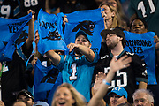 October 17, 2017: Carolina Panthers vs the Philadelphia Eagles. Panthers fans