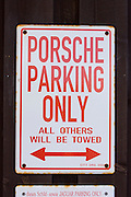 Sansibar. Porsche parking only.