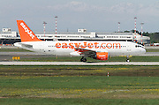 EasyJet, Airbus A320-214 at Linate airport, Milan, Italy