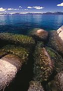 Lake Tahoe Landscape, Lake Tahoe Clear Water Rocks and Shoreline