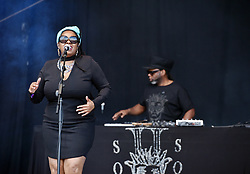 © Licensed to London News Pictures.  02/09/2017; Bristol, UK. SOUL II SOUL perform at The Downs Festival 2017 on The Downs in Bristol. Picture credit : Simon Chapman/LNP