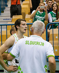 Injured Goran Dragic of Slovenia during friendly match between National teams of Slovenia and Turkey for Eurobasket 2013 on August 4, 2013 in Arena Zlatorog, Celje, Slovenia. (Photo by Vid Ponikvar / Sportida.com)