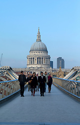 UK ENGLAND LONDON 15NOV11 - Millennium Bridge across  the River Thames, designed by Sir Norman Foster lead from the Tate Modern art gallery to St. Paul's cathedral and the City of London in by the River Thames.....jre/Photo by Jiri Rezac....© Jiri Rezac 2011