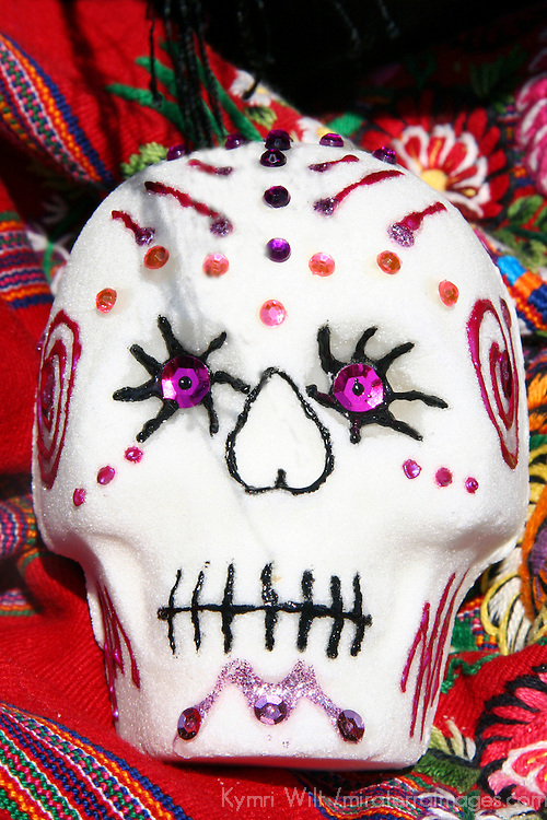 Mexico. Decorated Sugar Skull for Dia de Los Muertos.