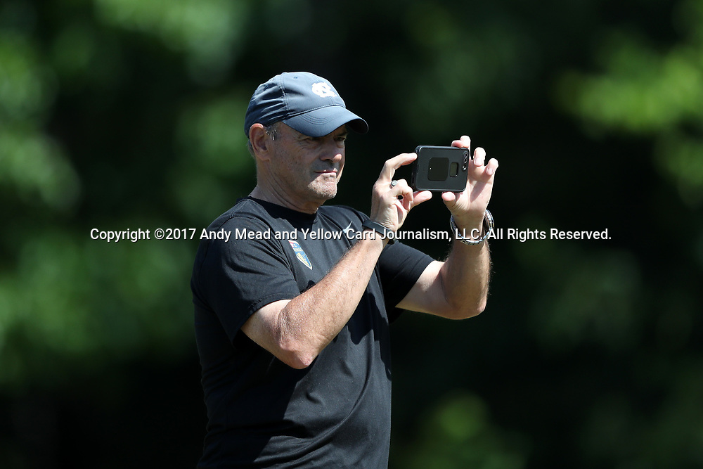 CARY, NC - MAY 04: Assistant coach Bill Palladino. The North Carolina Courage held a training session on May 4, 2017, at WakeMed Soccer Park Field 6 in Cary, NC.