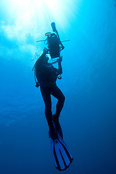 Scuba diver, naturalist and photographer Richard Costin at the Rowley Shoals