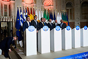Emmanuel Macron. Summit of the Southern European Union Countries at Villa Madama in Rome 10 January 2017. Christian Mantuano / OneShot