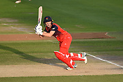 Emma Lamb of Lancashire Thunder batting during the Women's Cricket Super League match between Southern Vipers and Lancashire Thunder at the 1st Central County Ground, Hove, United Kingdom on 15 August 2019.