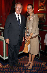 LORD & LADY PALUMBO at the presentation of a Chevalier dans l'ordre de la LŽgion d'Honneur to chef Albert Roux held at Le Gavroche, 43 Upper Brook Street, London on 9th September 2005.<br /><br />NON EXCLUSIVE - WORLD RIGHTS