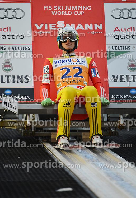 21.11.2014, Vogtland Arena, Klingenthal, GER, FIS Weltcup Ski Sprung, Klingenthal, Herren, HS 140, Qualifikation, im Bild Matjaz Pungertar (SLO) // during the mens HS 140 qualification of FIS Ski jumping World Cup at the Vogtland Arena in Klingenthal, Germany on 2014/11/21. EXPA Pictures &copy; 2014, PhotoCredit: EXPA/ Eibner-Pressefoto/ Harzer<br /> <br /> *****ATTENTION - OUT of GER*****