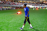 PERTH, AUSTRALIA - JULY 13: Manchester United midfielder Ashley Young (18) during pregame at the International soccer match between Manchester United and Perth Glory on July 13, 2019 at Optus Stadium in Perth, Australia. (Photo by Speed Media/Icon Sportswire)