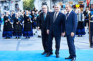 Antonio Tajani, Jean-Claude Juncker, Donald Tusk arrived to the Campoamor Theater for the Princess of Asturias Award 2017 ceremony on October 20, 2017 in Oviedo, Spain