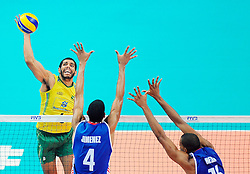 07.09.2014, Spodek, Katowice, POL, FIVB WM, Brasilien vs Kuba, Gruppe B, im Bild WALLACE DE SOUZA // during the FIVB Volleyball Men's World Championships Pool B Match beween Brazil vs Cuba at the Spodek in Katowice, Poland on 2014/09/07. <br /> <br /> ***NETHERLANDS ONLY***