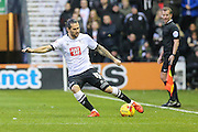 Derby County's Bradley Johnson makes a pass during the Sky Bet Championship match between Derby County and Brighton and Hove Albion at the iPro Stadium, Derby, England on 12 December 2015. Photo by Shane Healey.