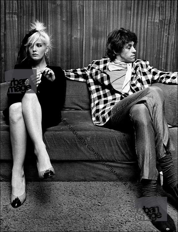 Happy Couple - Bob Geldof with Paula Yates backstage 1981