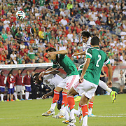 Bruno Alves , Portugal, heads the winning goal in stoppage time to give Portugal a 1-0 victory during the Portugal V Mexico International Friendly match in preparation for the 2014 FIFA World Cup in Brazil. Gillette Stadium, Boston (Foxborough), Massachusetts, USA. 6th June 2014. Photo Tim Clayton