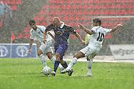 23.07.2005, Ratina, Tampere, Finland..UEFA Intertoto Cup, 3rd round, 2nd leg match.Tampere United v S.S. Lazio.Ville Lehtinen (TamU) v  C?sar (Lazio).©Juha Tamminen.....ARK:k