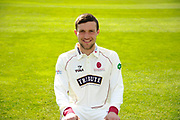 County Championship kit portrait of Ryan Davies during the Somerset County Cricket Club PhotoCall 2017 at the Cooper Associates County Ground, Taunton, United Kingdom on 5 April 2017. Photo by Graham Hunt.