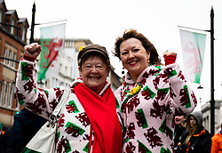 Wales fans enjoying the pre match atmosphere<br /> <br /> Photographer Simon King/Replay Images<br /> <br /> Six Nations Round 5 - Wales v Ireland - Saturday 16th March 2019 - Principality Stadium - Cardiff<br /> <br /> World Copyright © Replay Images . All rights reserved. info@replayimages.co.uk - http://replayimages.co.uk