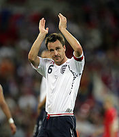 Photo: Rich Eaton.<br /> <br /> England v Russia. UEFA European Championships Qualifying. 12/09/2007. England's John Terry applauds the fans after England's 3-0 home victory