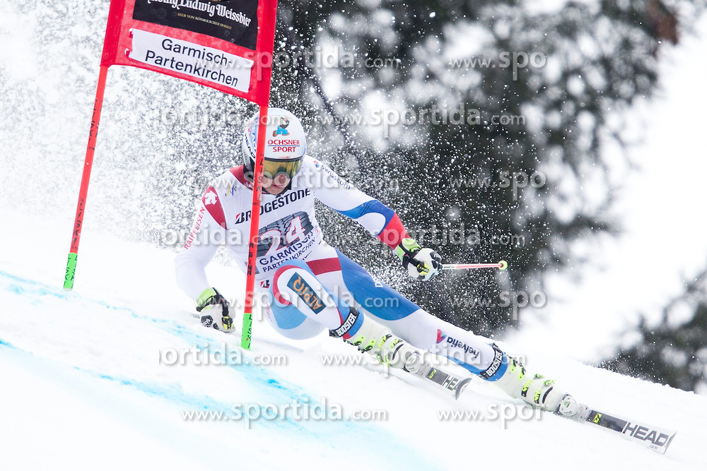 01.03.2015, Kandahar, Garmisch Partenkirchen, GER, FIS Weltcup Ski Alpin, Riesenslalom, Herren, 1. Lauf, im Bild Gino Caviezel (SUI) // Gino Caviezel of Switzerland in action during 1st run for the men's Giant Slalom of the FIS Ski Alpine World Cup at the Kandahar course, Garmisch Partenkirchen, Germany on 2015/03/01. EXPA Pictures © 2015, PhotoCredit: EXPA/ Johann Groder