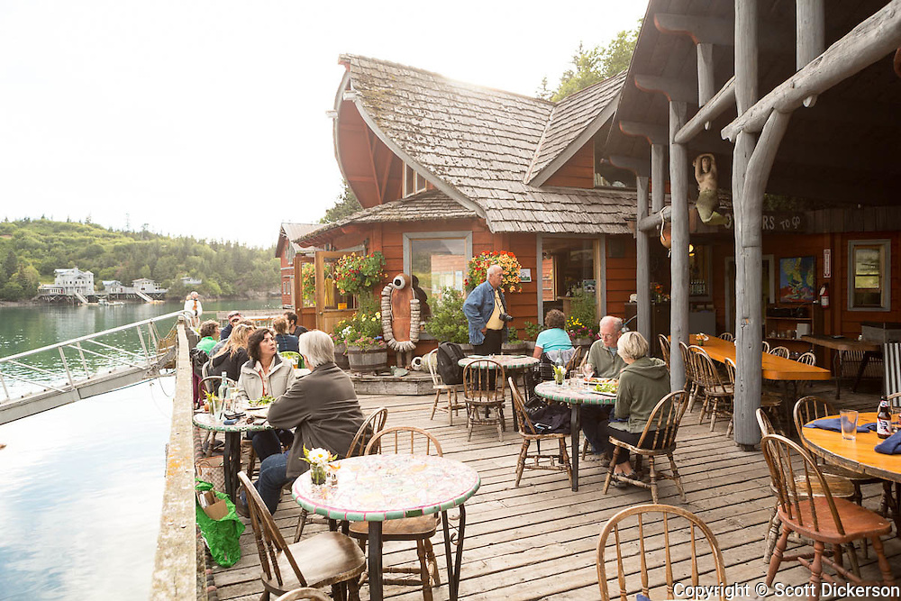 The Saltry Restaurant in Halibut Cove, Kachemak Bay, Kenai Peninsula, Southcentral Alaska.