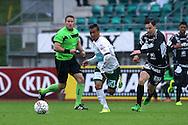 15.5.2016, Wiklöf Holding Arena, Mariehamn.<br /> Veikkausliiga 2016.<br /> IFK Mariehamn - FC Lahti.<br /> Diego Assis (IFK Mhamn) v Duarte Tammilehto (FC Lahti).