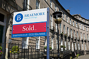 A Sold sign outside a property on Royal Circus in Edinburgh, on 26th June 2019, in Edinburgh, Scotland.