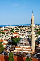 Grece, Dodecanese, Rhodes, ville de Rhodes, patrimoine Unesco, mosquee Souleiman // Greece, Dodecanese, Rhodes island, Rhodes city, Unesco word heritage, Souleiman mosque