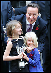 OCT 30 2012 David Cameron with Pride of Britain Award winners
