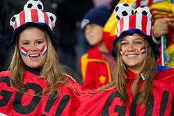 03.07.2010, Ellis Park, Johannesburg, RSA, FIFA WM 2010, Viertelfinale, Paraguay (PAR) vs Spanien (ESP) im Bild .Fans of Paraguay enjoy atmosphere, EXPA Pictures © 2010, PhotoCredit: EXPA/ Sportida/ Vid Ponikvar, ATTENTION! Slovenia OUT
